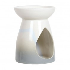 Ceramic Wax Melt Oil Burner - Grey Teardrop