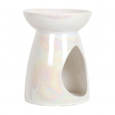 Ceramic Wax Melt Oil Burner - Pearl Teardrop