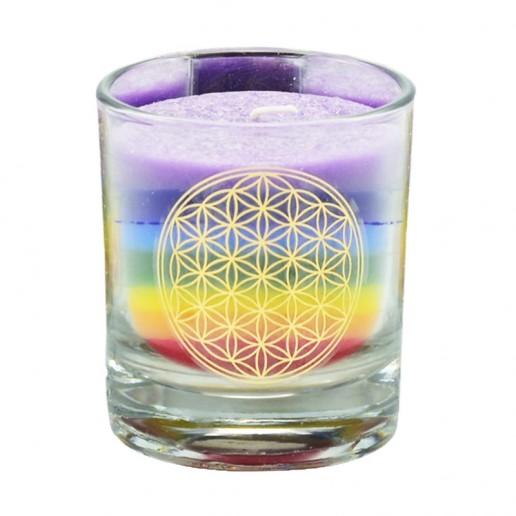 Chakra Candle - Multicolor Small