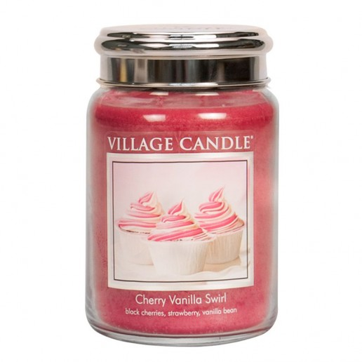 Cherry Vanilla Swirl - Village Candle Large Jar