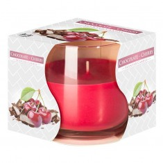 Chocolate Cherry - Scented Candle in Glass Best Smelling Cheap Sale Discounts