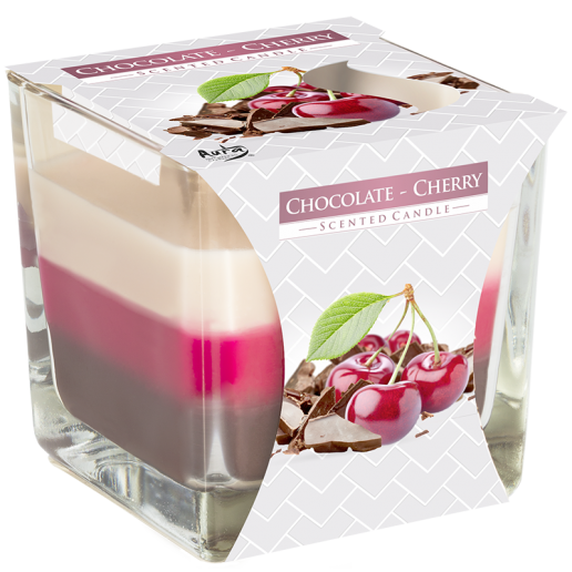 Chocolate - Cherry - Triple Layered Scented Candle