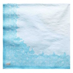 Christening Boy Paper Napkins back