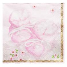 Christening Light Pink Paper Napkins 20pk