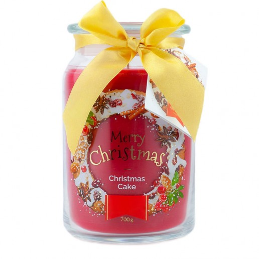 Christmas Cake Scented Candle in Large Jar