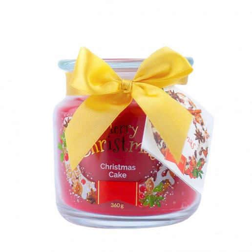 Christmas Cake Scented Candle in Medium Jar