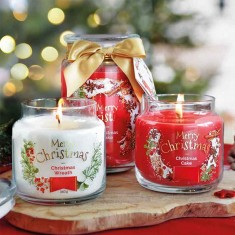 Christmas Candles in Jars lifestyle