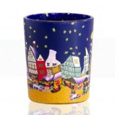 Christmas Market - Glowing Votive Glass Tea Light Candle Holder