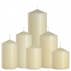Ivory cylinder candles