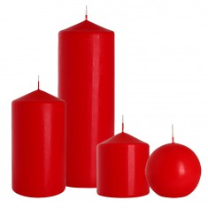 pillar candles red
