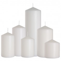pillar candles white