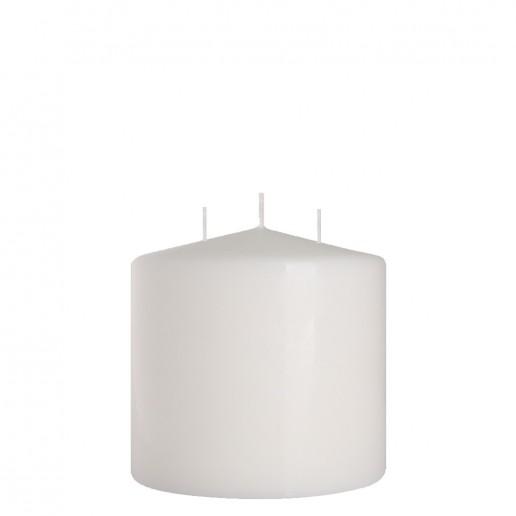 Church Candle 150x150 white 3 wicks
