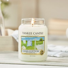 Clean Cotton - Yankee Candle Large Jar