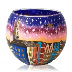 Cork City - Glowing Globe Glass Tea Light Candle Holder