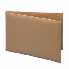 Craft Guest Book in PVC Box - Brown
