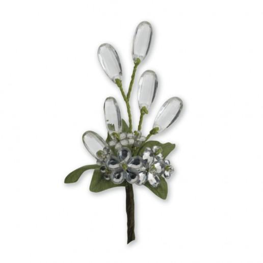Crystal Flower Spray - Clear