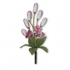 Crystal Flower Spray - Pink