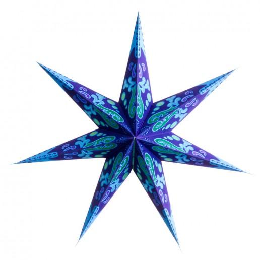 'Curves' Blue - Large Paper Star Light