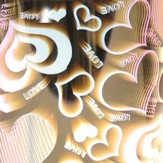 Cylinder 3D Electric Wax Melt Oil Burner - Heart zoom