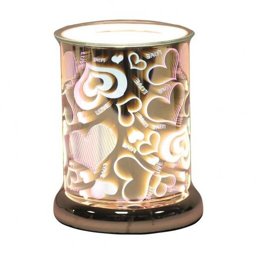 Cylinder 3D Electric Wax Melt Oil Burner - Heart
