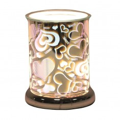 Cylinder 3D Electric Wax Melt Oil Burner - Heart