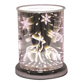 Cylinder 3D Electric Wax Melt Oil Burner - Reindeer
