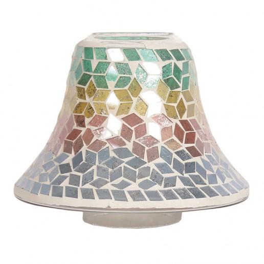 Diamond Tricolour Yankee Candle Jar Lamp Shade