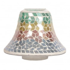 Diamond Tricolour Yankee Candle Jar Lamp Shade