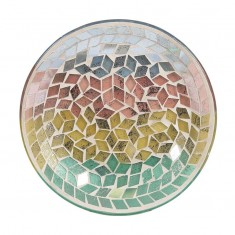 Diamond Tricolour Yankee Candle Jar Plate