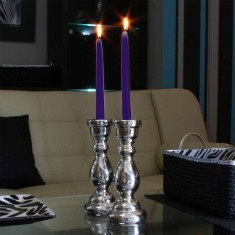 Dinner Taper Candles - Purple lit