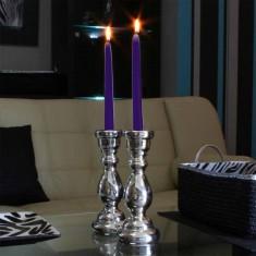 Dinner Taper Candles - Purple lit