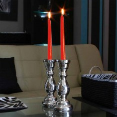 Dinner Taper Candles - Red lit