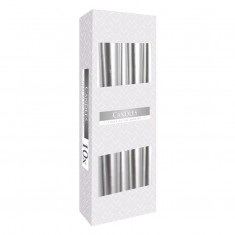 Dinner Taper Candles - Silver