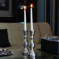 Dinner Taper Candles - White lit
