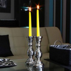 Dinner Taper Candles - Yellow lit