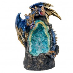 Dragon & Crystal Cave LED Backflow Incense Cone Burner