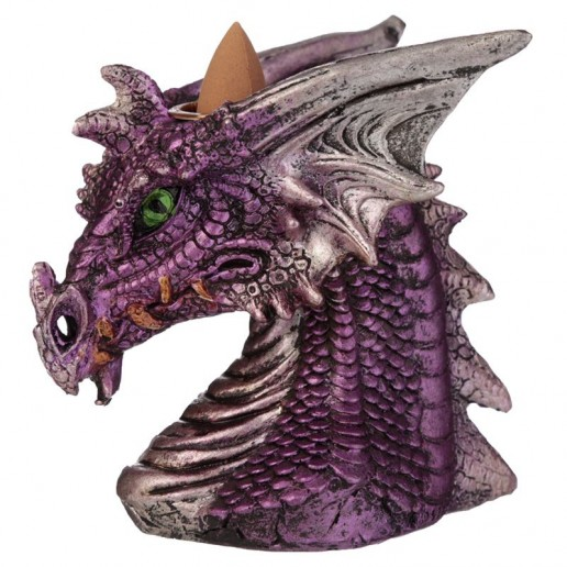 Dragon's Head Backflow Incense Cone Burner Pink