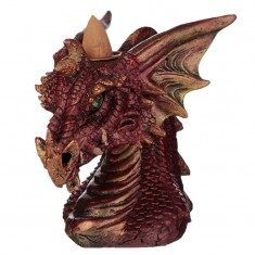 Dragon's Head Backflow Incense Cone Burner Red angle