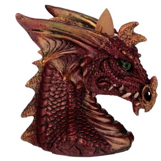Dragon's Head Backflow Incense Cone Burner Red