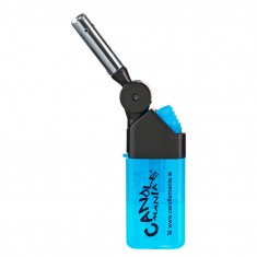 Windproof Multi-purpose Electronic Lighter Torch Jet Blue Flame Cigarette Gas Lighter Refillable Cigar Lighter (Cyan)