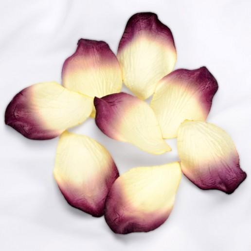 Embossed Paper Petals Confetti - Ivory-Burgundy