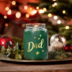 Evergreen Mist Dad Gold Personalised Yankee Candle Large