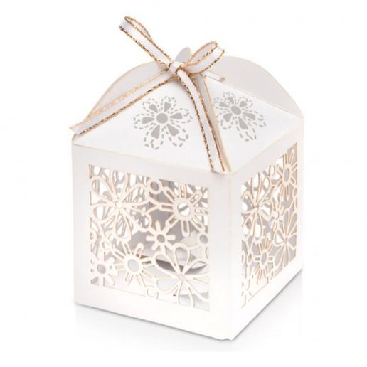 Favour Box Laser Flower white