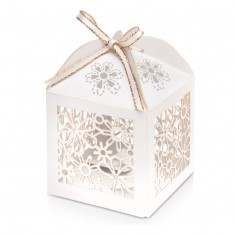 Favour Box Laser Flower white