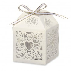 Favour Box Laser Heart Ivory