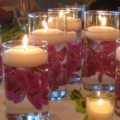 Floating Candles lit