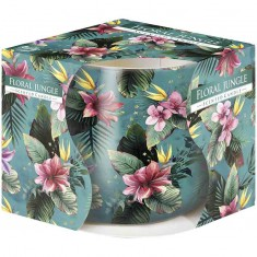 Floral Jungle - Scented Candle in Glass