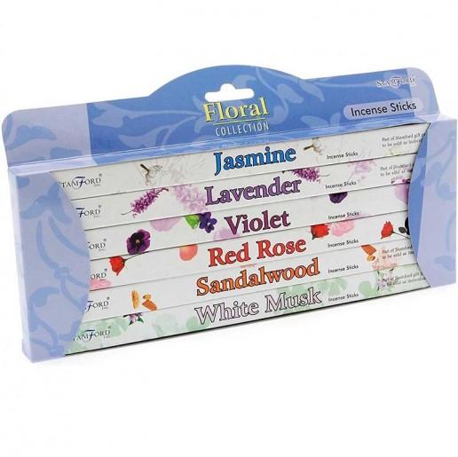 Floral - Stamford Incense Sticks 6 Pack