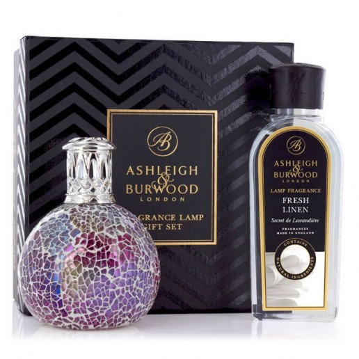 Fragrance Lamp Gift Set - Pearlescense & Fresh Linen Ashleigh & Burwood