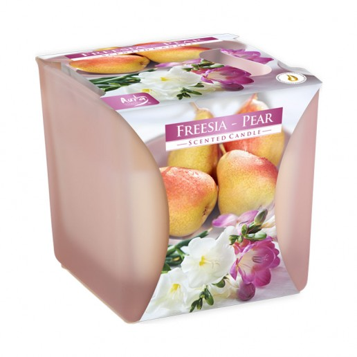Freesia - Pear - Scented Candle in Glass